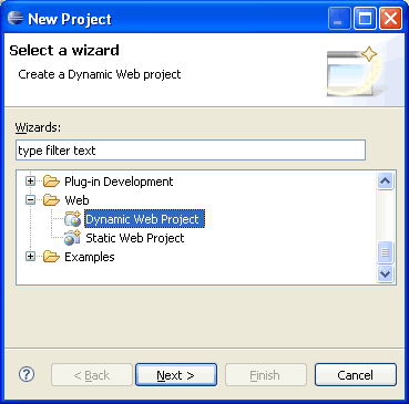 dynamic web project in eclipse