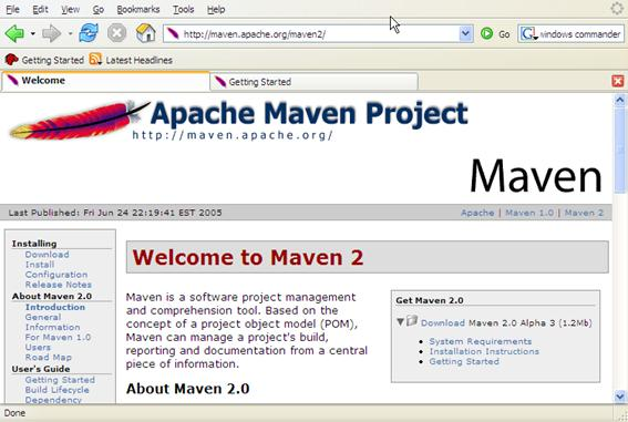 maven-documentation-screen