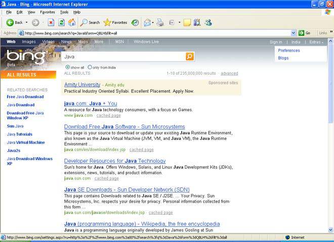bing-search-java-preference