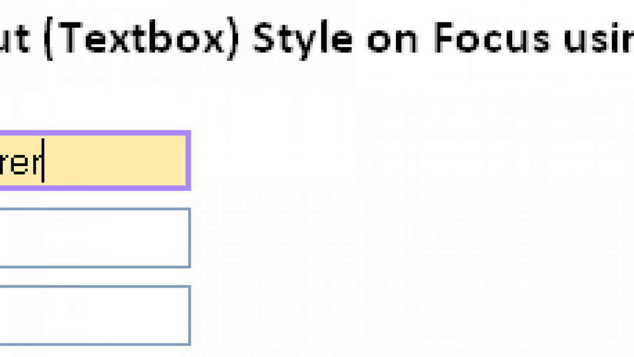 Changing Form Input (Textbox) Style on Focus using jQuery