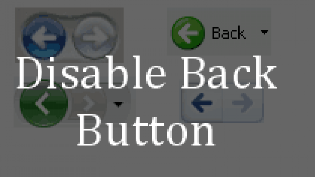 Disable Back Button in Browser using JavaScript  Back Button