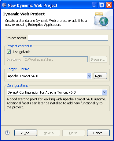 eclipse dynamic web project