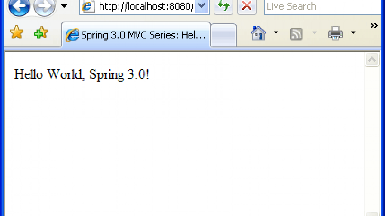 Spring 3 MVC: Create Hello World application in Spring 3 0