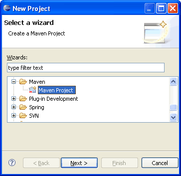 eclipse-maven-new-project