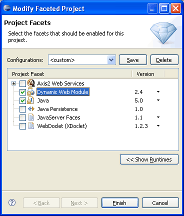 project-facet-maven-eclipse