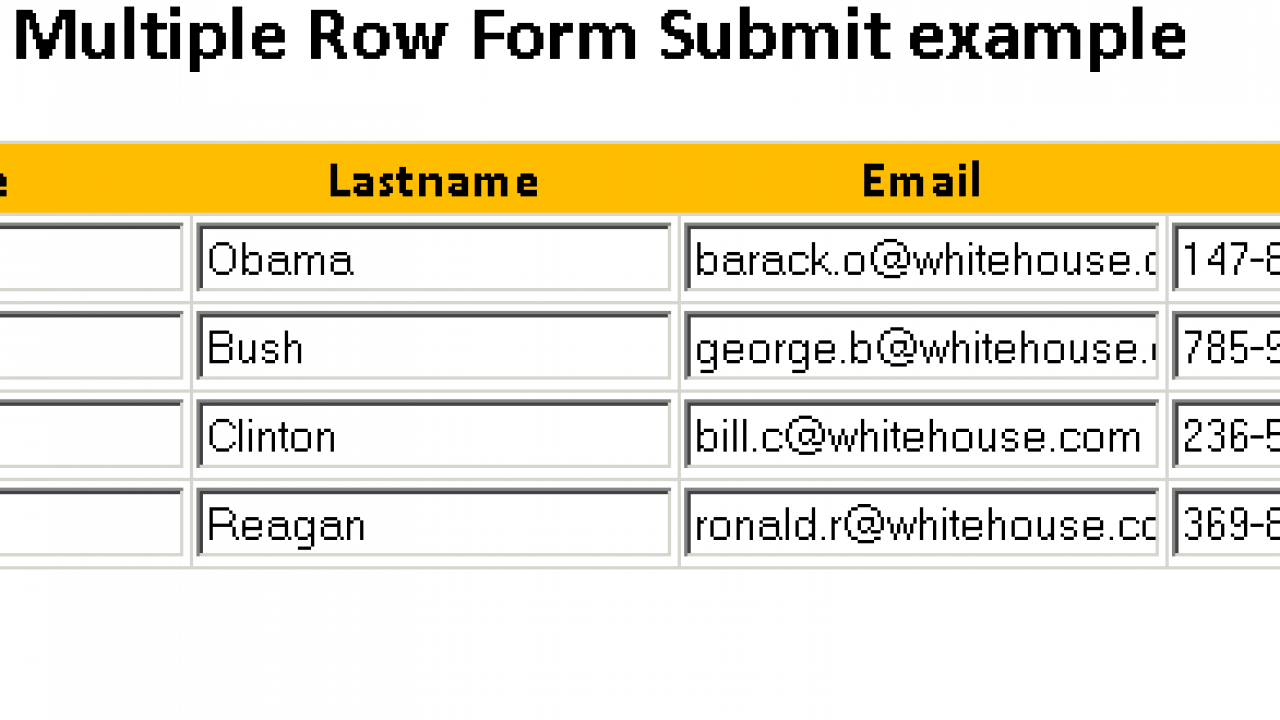 Spring MVC Multiple Row Form Submit in List collection