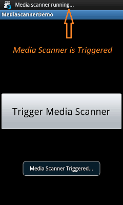 android media-scanner-app