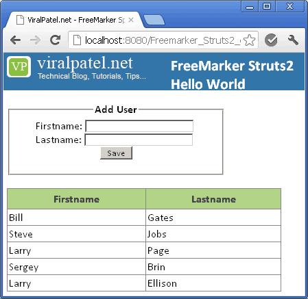 struts2-freemarker-ftl-example