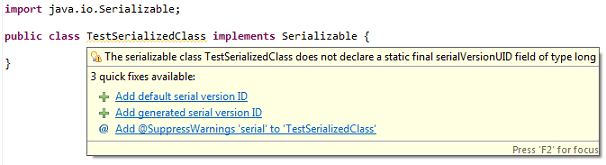 eclipse-serialversionuid-warning