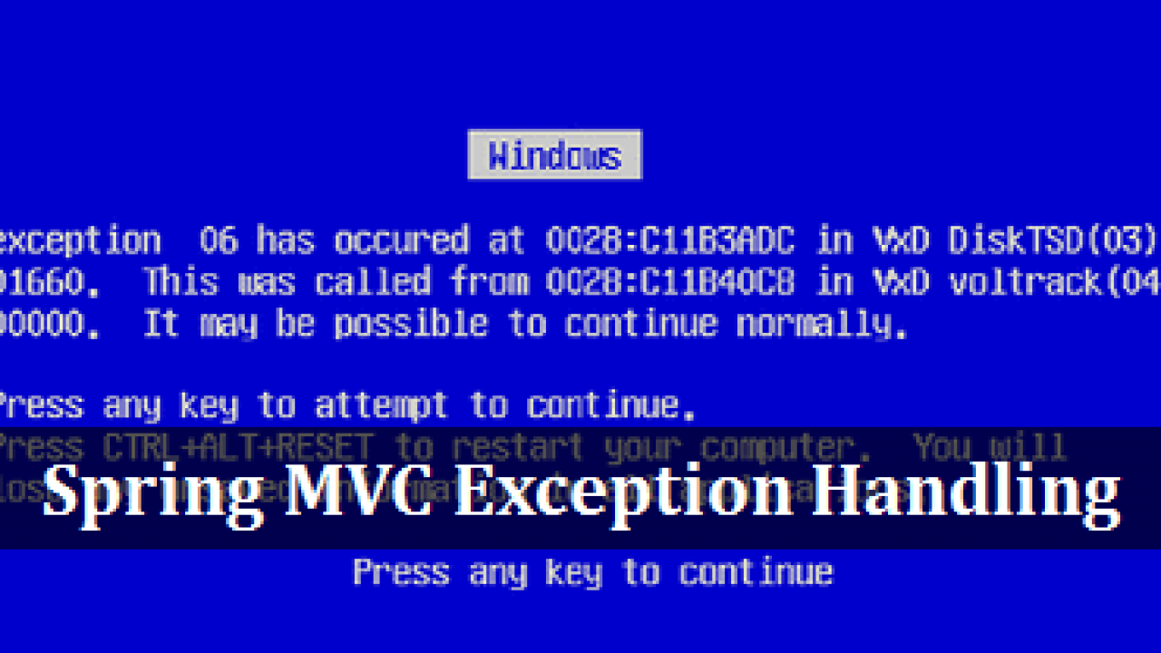 Spring MVC Exception Handling using @ControllerAdvice annotation