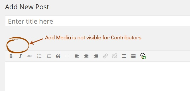 wordpress-contributor-add-media-disabled