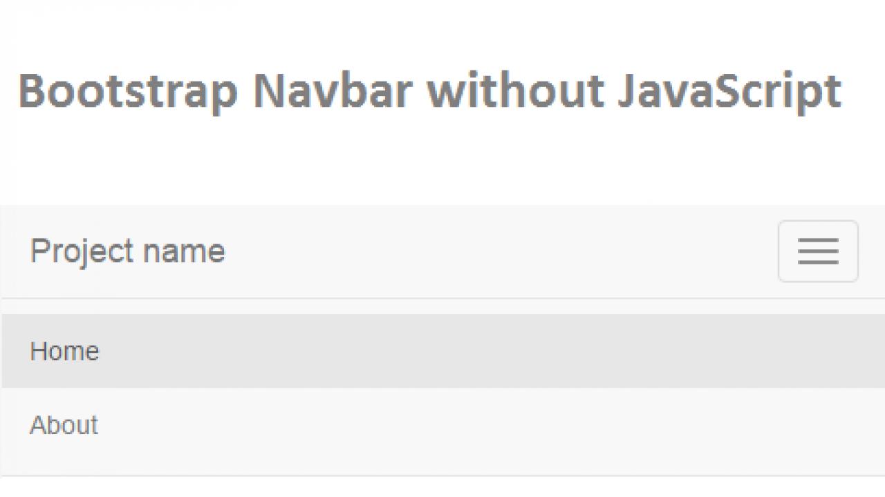 Bootstrap Navbar Menu without JavaScript - ViralPatel net