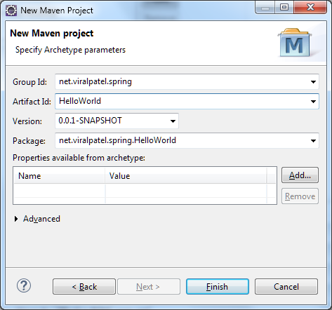 eclipse-new-maven-project-group-artifact-id