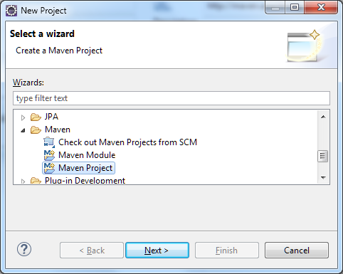 spring 4 mvc tutorial eclipse-new-project-wizard