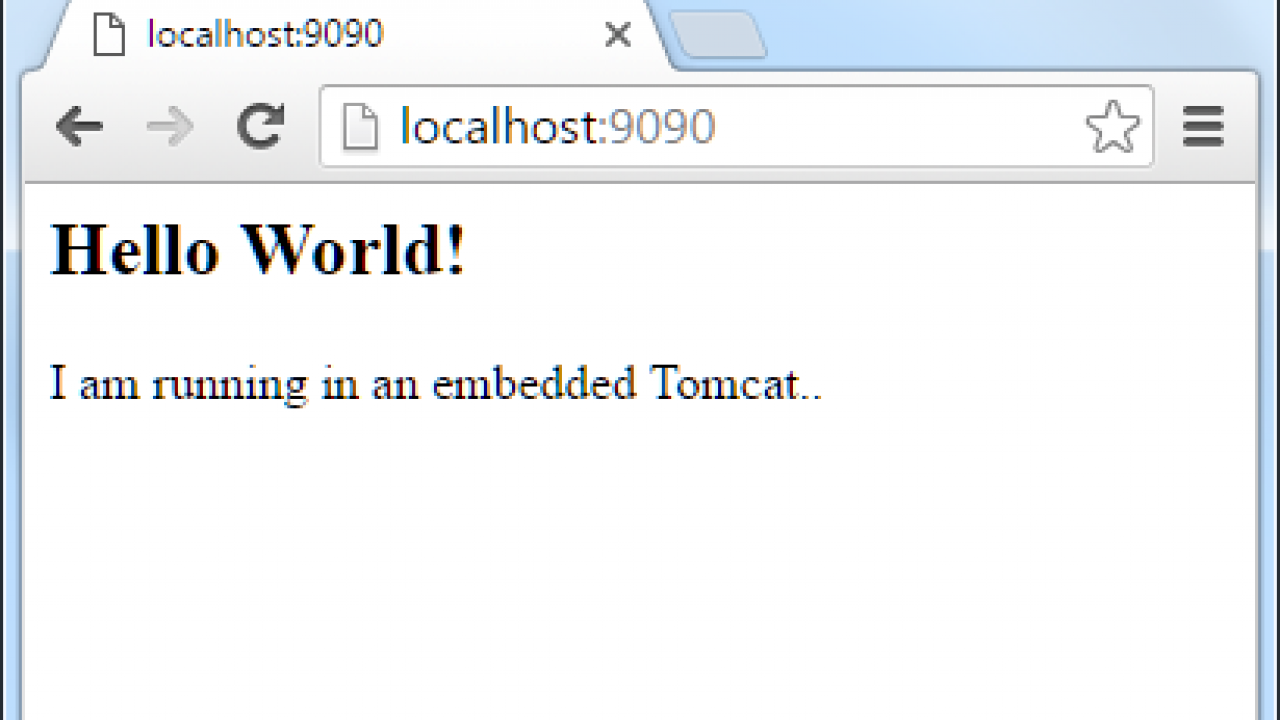 How to Embed Tomcat within Maven Project - Run Tomcat with