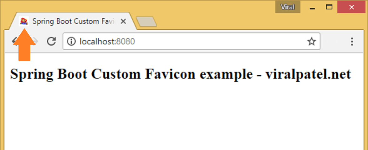 spring boot custom favicon example demo